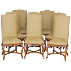 Set of Eight English Dining Chairs