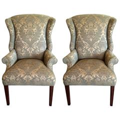 Pair of Regal Federal Style Wing Chairs