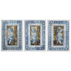 Three 18th Century Portuguese Tile Panels