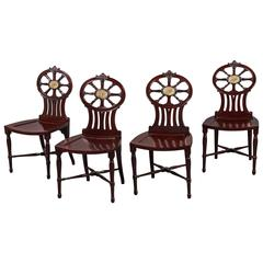 Gillows: Magnificent and Rare Set of Mahogany Hall Chairs, circa 1790