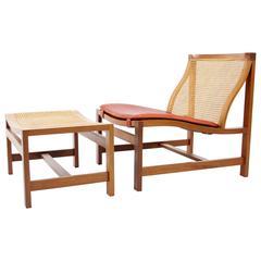 Rud Thygesen and Johnny Sorensen Kongeserie Lounge Chair and Ottoman