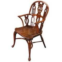 Fine and Very Rare Mid-18th Century Gothic Windsor Armchair