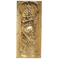 Large Louis XVI Style Carved Door or Panel from France