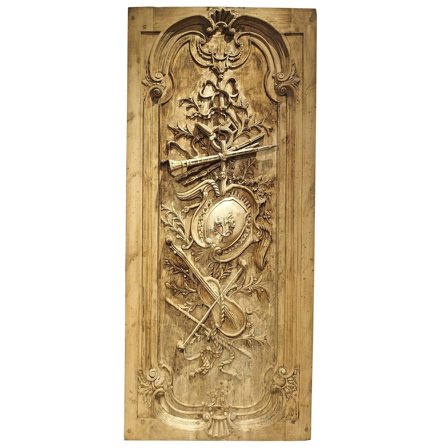 Carved Door Panels : Large louis xvi style carved door or panel from france at