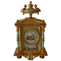 19th Century Porcelain and Gilt Bronze Clock