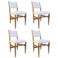 Set of Four Chairs by Gio Ponti, circa 1956