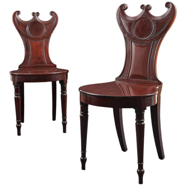 Regency Hall Chairs For Sale at 1stdibs