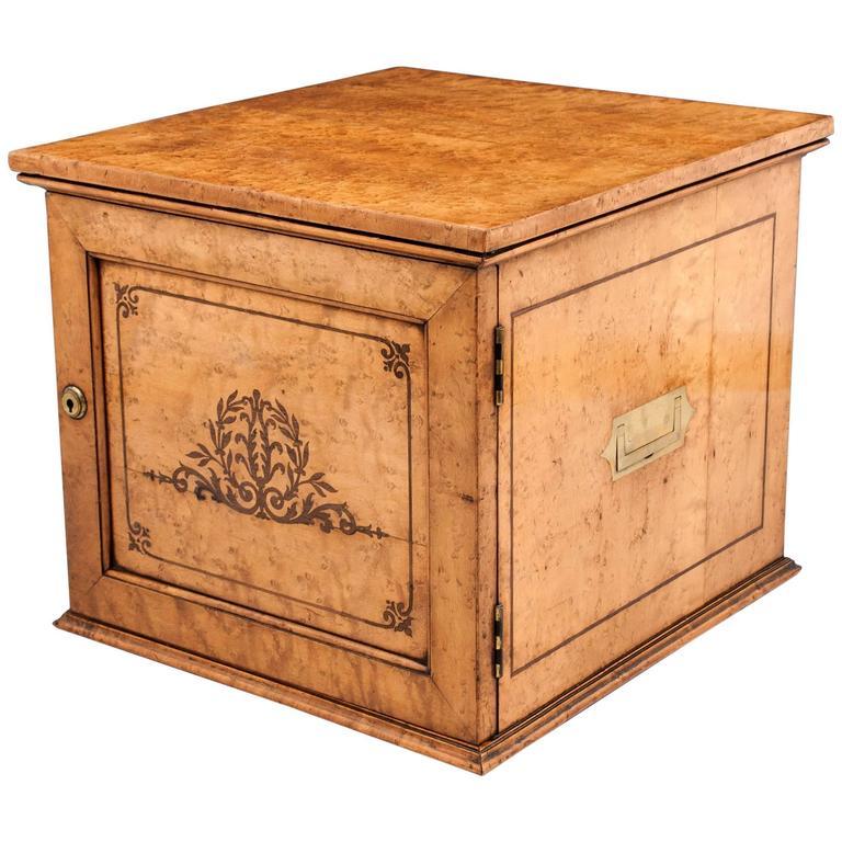 Birdseye Maple Cigar Cabinet At 1stdibs