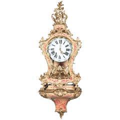 "Very Attractive So Called ""Vernis Martin"" Swiss Console Clock, circa 1760"