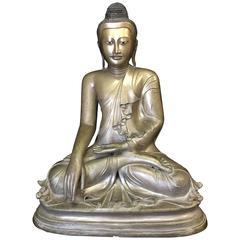 Mandalay Bronze Buddha Sculpture, 19th Century