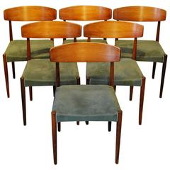 Set of Six Mid-Century Modern Rosewood Dining Chairs