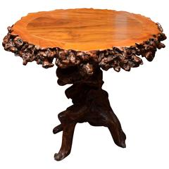 Turn of the Century Q'ing Dynasty Elm Root Dining Table