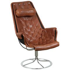 Leather Jetson Chair by Bruno Mathsson for DUX