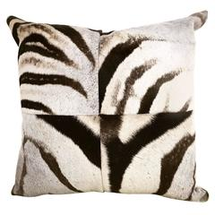 Zebra Hide Patchwork Pillow