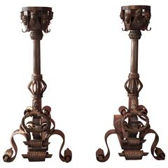 Pair of 19th Century Andirons