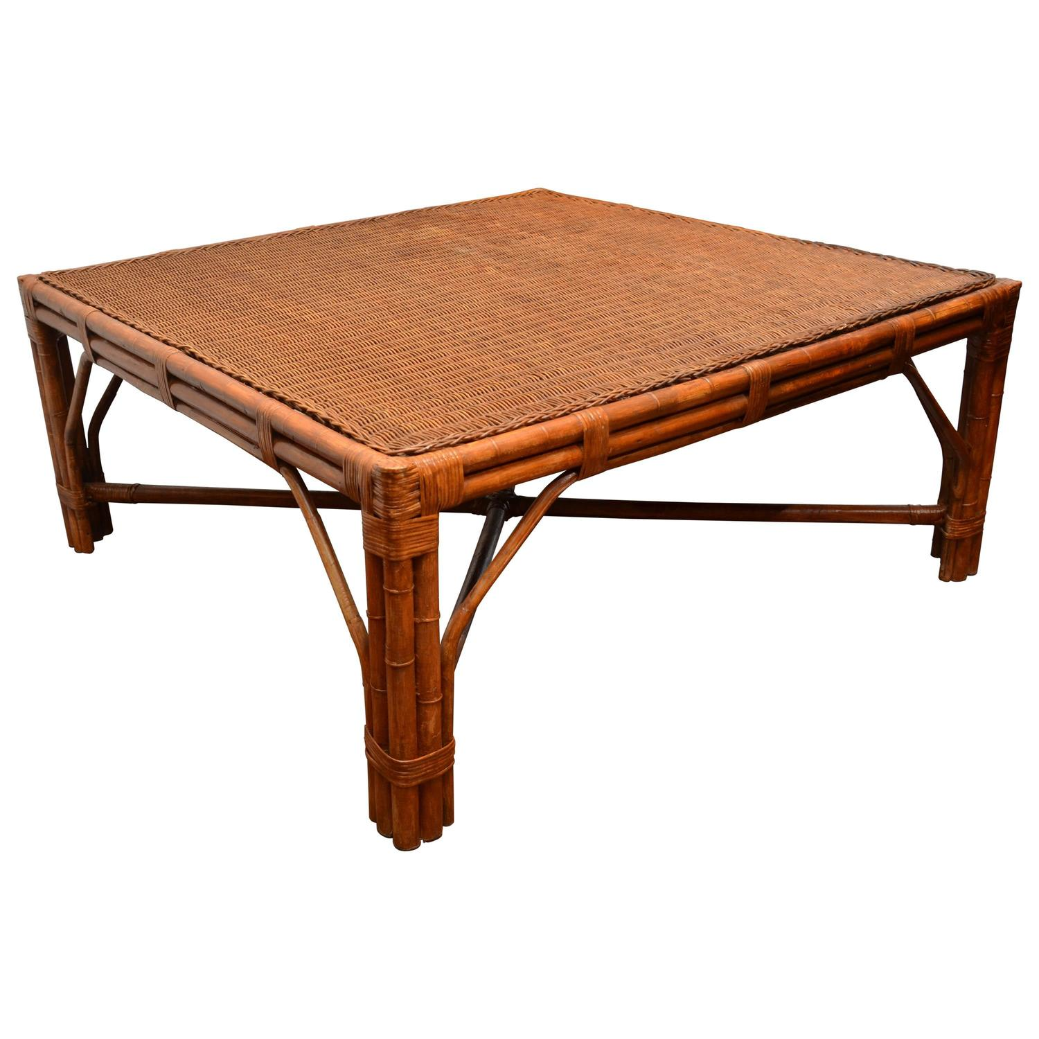 Bamboo coffee table at stdibs