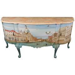 1932 Waring and Gillow British Sideboard Hand-Painted by Kensa Design