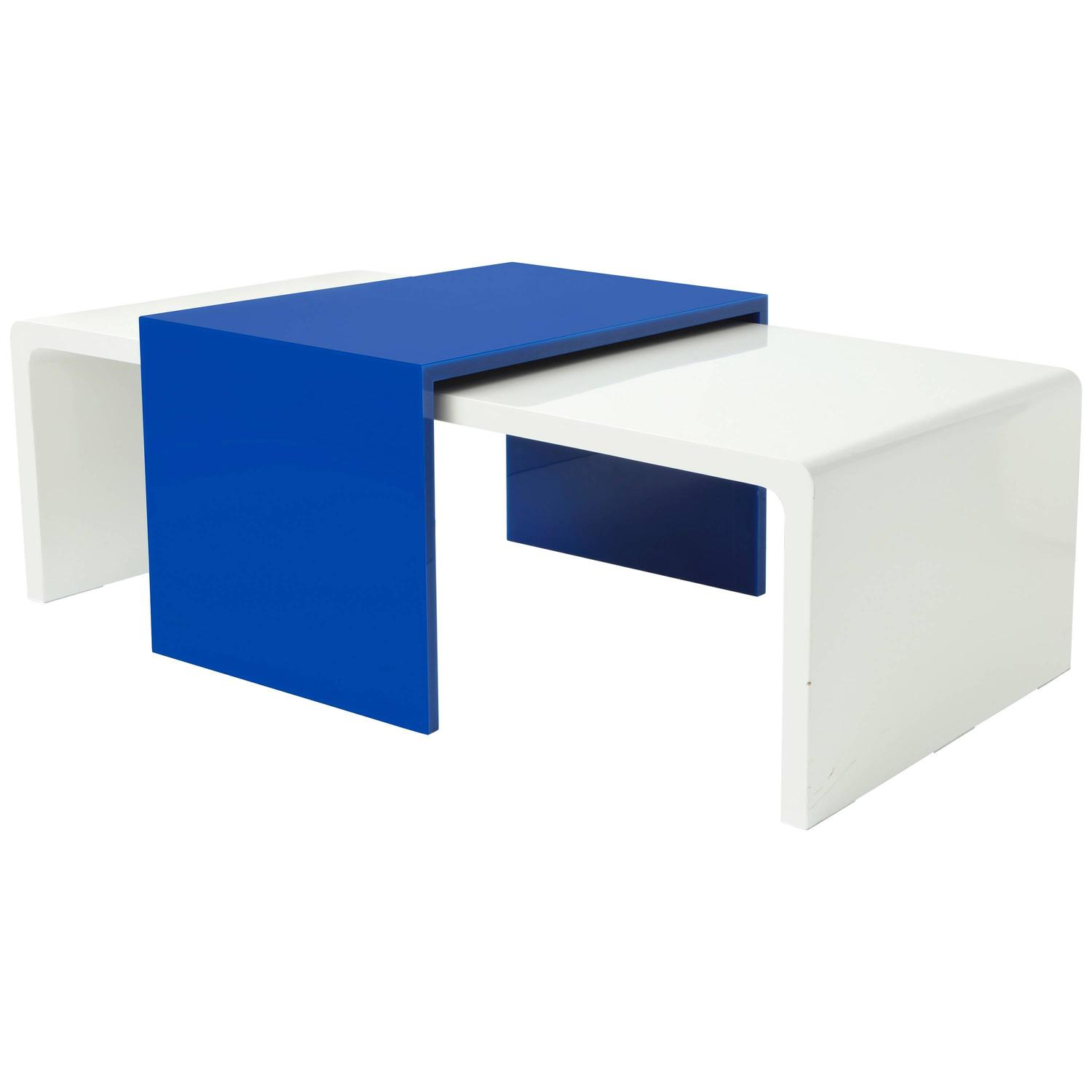 Azul and white acrylic coffee table for sale at 1stdibs for Acrylic coffee tables for sale