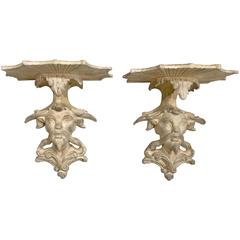 Pair of Chinoiserie Wall Brackets