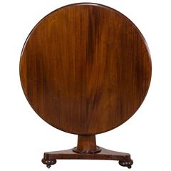 Antique English Mahogany Tilt-Top Pedestal Table, circa 1835