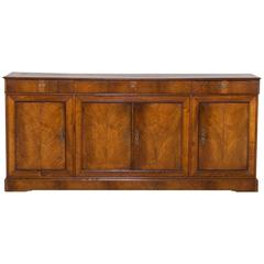 Louis XVI Style Antique French Elm Buffet Enfilade, circa 1840
