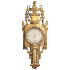 Louis XVI Style Barometer, in Giltwood