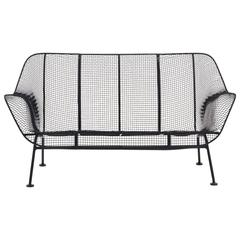 Russell Woodard Sculptura Woven Wire Outdoor / Patio  Settee Loveseat. Excellent