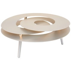 Rollercoaster Medium Table, Stainless Steel with Titanium Gold Color Finish