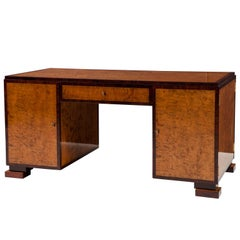 A Swedish Grace Birch and Palisander Partners Desk