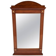 Swedish Empire Mahogany Inlaid Mirror