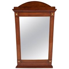 Swedish Empire Mahogany Inlaid Mirror