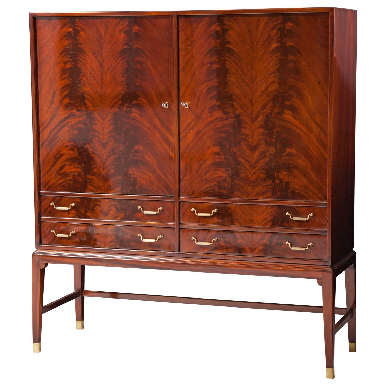 danish modern mahogany cabinet at 1stdibs