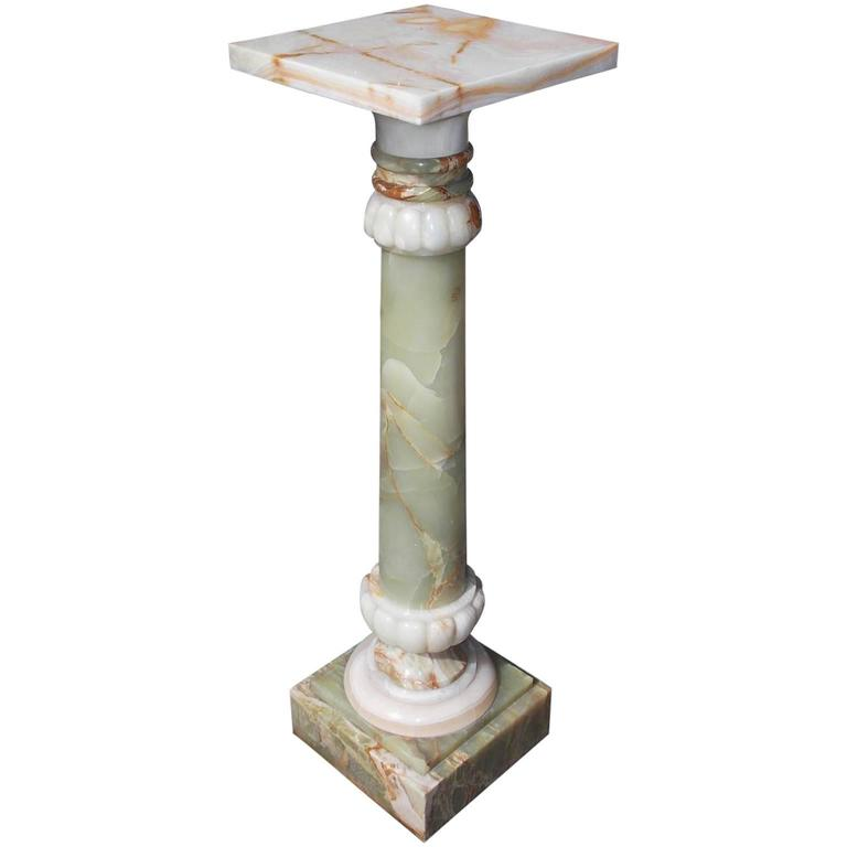 American Marble and Onyx Campaign Pedestal, New York, Circa 1880