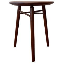 Modernist Walnut Table or Stool by Glenn of California