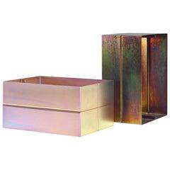 Set of Contemporary Metal Side Tables by Luuk van den Broek