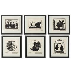 Vintage Silhouettes Prints of Hans Christian Andersen Fairy Tales