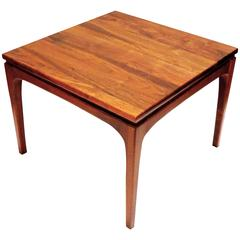 1950s American Modern California Design Solid Walnut Small Cocktail End Table