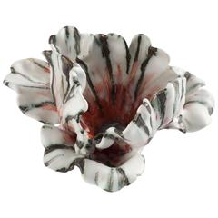 Unique Glazed Porcelain Tulip by Matthew Solomon