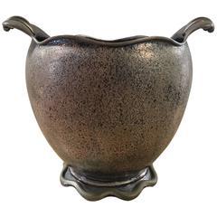 Elegant Silver Italian Vase