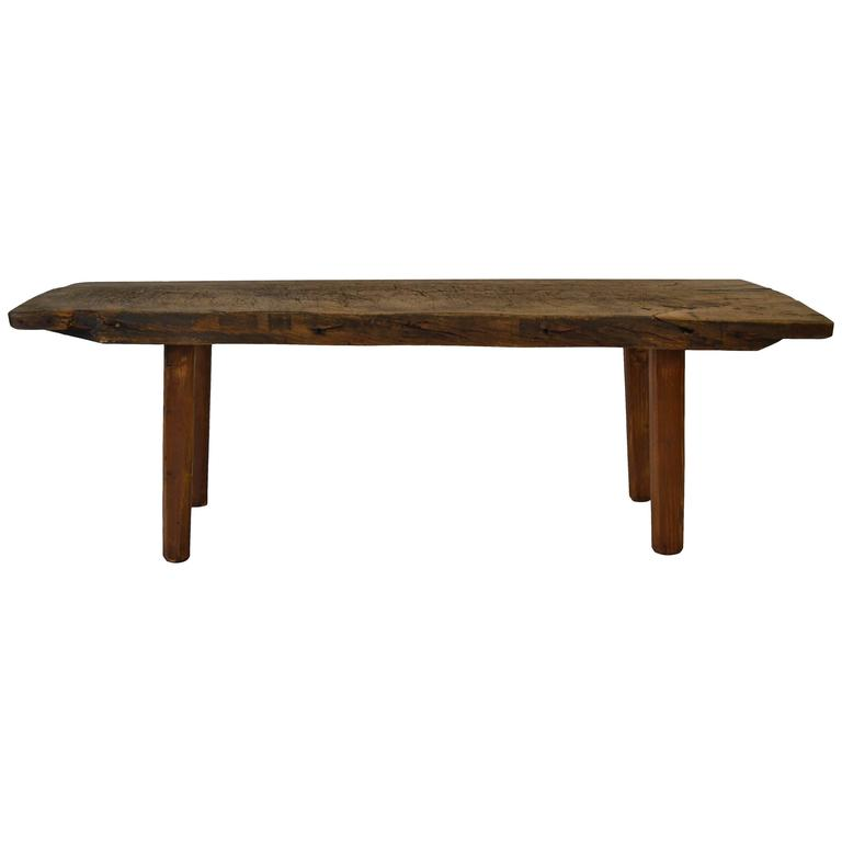 Oak and pine butcher 39 s block coffee table at 1stdibs for Pine coffee table