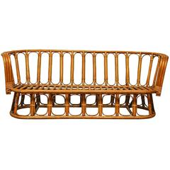 French Mid-Century Montpellier Bamboo Settee