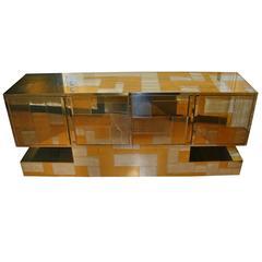 Paul Evans Cityscape Sculptural Patchwork Credenza Cabinet