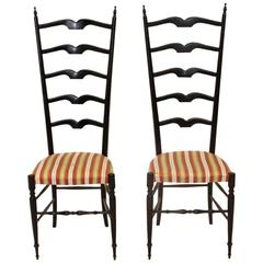 Mid-Century Italian Entrance Hall Chairs, Set of Two