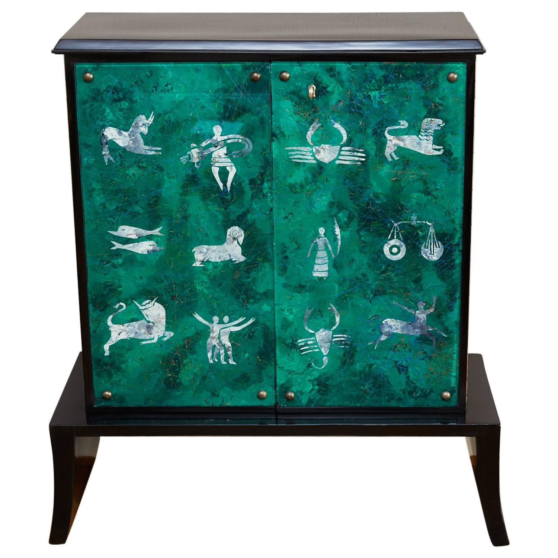 Fontana arte bar cabinet by dube italy circa 1950 at 1stdibs