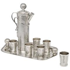 Rare 'Golf' Cocktail Set and Tray, 1926