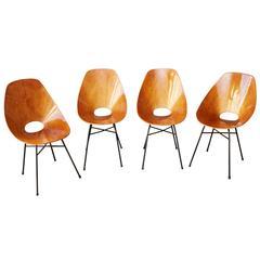 Set of Chairs by Vittorio Nobili, Prod. Medea, Italy, circa 1955