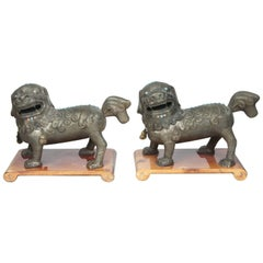 Pair of Matching 19th Century Foo Dogs