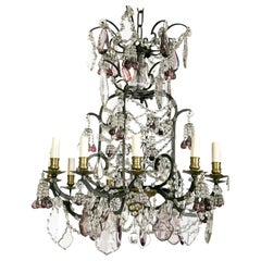 Louis XV Style Twelve-Light Cage Form Chandelier