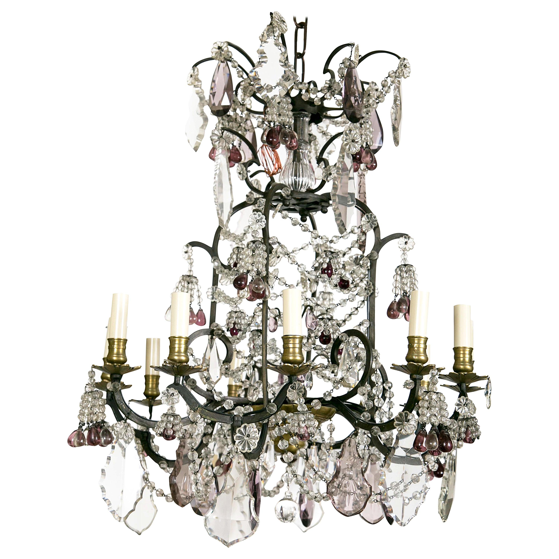 Louis XV Style Twelve-Light Cage Form Chandelier
