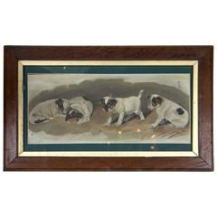 Oil Sketch of Puppies